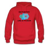 """Be Positive"" (black) - Men's Sweatshirt red / S - LabRatGifts - 5"