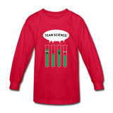 """Team Science"" - Kids' Long Sleeve T-Shirt red / XS - LabRatGifts - 2"