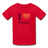 """I ♥ Physics"" (black) - Kids' T-Shirt red / XS - LabRatGifts - 4"