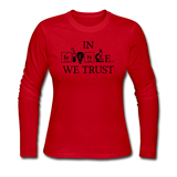 """In Science We Trust"" (black) - Women's Long Sleeve T-Shirt red / S - LabRatGifts - 4"