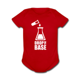 """Drop the Base"" - Baby Short Sleeve One Piece red / Newborn - LabRatGifts - 1"