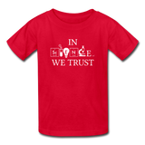 """In Science We Trust"" (white) - Kids' T-Shirt red / XS - LabRatGifts - 4"