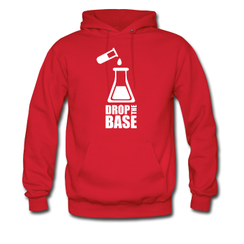 """Drop the Base"" - Men's Sweatshirt red / S - LabRatGifts - 1"