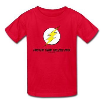 """Faster than 186,282 MPS"" - Kids' T-Shirt red / XS - LabRatGifts - 1"