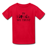 """In Science We Trust"" (black) - Kids' T-Shirt red / XS - LabRatGifts - 3"