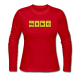 """NaH BrO"" - Women's Long Sleeve T-Shirt red / S - LabRatGifts - 5"