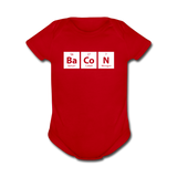 """BaCoN"" - Baby Short Sleeve One Piece red / Newborn - LabRatGifts - 4"