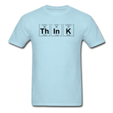 """ThInK"" (black) - Men's T-Shirt powder blue / S - LabRatGifts - 4"