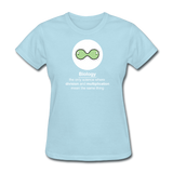 """Biology Division"" - Women's T-Shirt powder blue / S - LabRatGifts - 13"