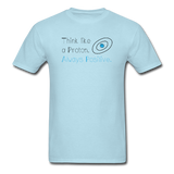 """Think like a Proton"" (black) - Men's T-Shirt powder blue / S - LabRatGifts - 5"
