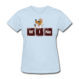 """Wine Periodic Table"" - Women's T-Shirt powder blue / S - LabRatGifts - 2"