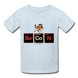"""Bacon Periodic Table"" - Kids T-Shirt powder blue / XS - LabRatGifts - 5"