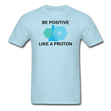 """Be Positive"" (black) - Men's T-Shirt powder blue / S - LabRatGifts - 5"