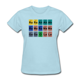 """Lady Gaga Periodic Table"" - Women's T-Shirt powder blue / S - LabRatGifts - 12"