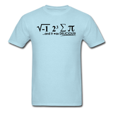"""I Ate Some Pie"" (black) - Men's T-Shirt powder blue / S - LabRatGifts - 5"