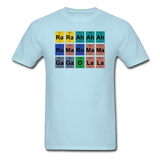 """Lady Gaga Periodic Table"" - Men's T-Shirt powder blue / S - LabRatGifts - 13"