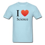 """I ♥ Science"" (black) - Men's T-Shirt powder blue / S - LabRatGifts - 5"