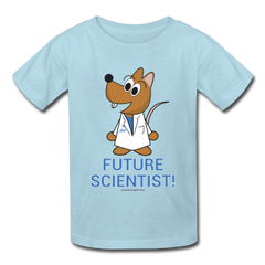 """Future Scientist"" (Matt) - Kids' T-Shirt powder blue / XS - LabRatGifts - 1"