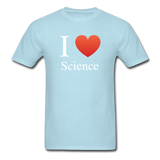 """I ♥ Science"" (white) - Men's T-Shirt powder blue / S - LabRatGifts - 9"
