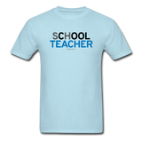 """sChOOL Teacher"" - Men's T-Shirt powder blue / S - LabRatGifts - 13"