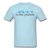 """-273.15 ºC is the Coolest"" (gray) - Men's T-Shirt powder blue / S - LabRatGifts - 15"