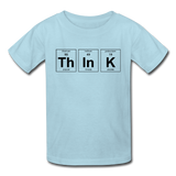 """ThInK"" (black) - Kids' T-Shirt powder blue / XS - LabRatGifts - 1"