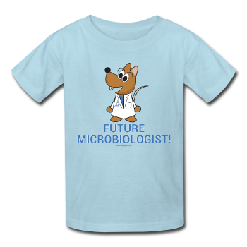 Kids' T-Shirt powder blue / XS - LabRatGifts - 1