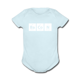 """BaCoN"" - Baby Short Sleeve One Piece powder blue / Newborn - LabRatGifts - 5"
