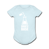 """Drop the Base"" - Baby Short Sleeve One Piece powder blue / Newborn - LabRatGifts - 5"
