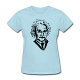 """Albert Einstein"" - Women's T-Shirt powder blue / S - LabRatGifts - 11"