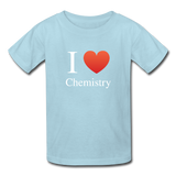 """I ♥ Chemistry"" (white) - Kids' T-Shirt powder blue / XS - LabRatGifts - 4"