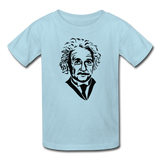 """Albert Einstein"" - Kids' T-Shirt powder blue / XS - LabRatGifts - 3"