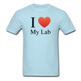 """I ♥ My Lab"" (black) - Men's T-Shirt powder blue / S - LabRatGifts - 5"
