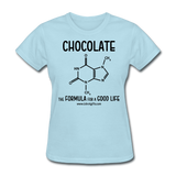 """Chocolate"" - Women's T-Shirt powder blue / S - LabRatGifts - 5"