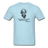 """Albert Einstein: T-Shirts Quote"" - Men's T-Shirt powder blue / S - LabRatGifts - 5"