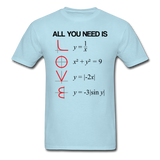 """All You Need is Love"" - Men's T-Shirt powder blue / S - LabRatGifts - 7"