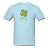"""Lucky Chemist"" - Men's T-Shirt powder blue / S - LabRatGifts - 5"