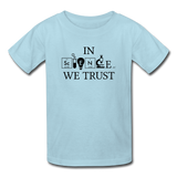 """In Science We Trust"" (black) - Kids' T-Shirt powder blue / XS - LabRatGifts - 4"