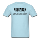 """Research"" (black) - Men's T-Shirt powder blue / S - LabRatGifts - 4"