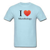 """I ♥ Microbiology"" (black) - Men's T-Shirt powder blue / S - LabRatGifts - 5"