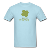 """Lucky Biologist"" - Men's T-Shirt powder blue / S - LabRatGifts - 14"