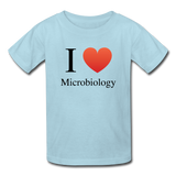 """I ♥ Microbiology"" (black) - Kids' T-Shirt powder blue / XS - LabRatGifts - 3"