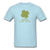"""Lucky Lab Tech"" - Men's T-Shirt powder blue / S - LabRatGifts - 14"