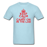 """Keep Calm and Carry On in the Lab"" (red) - Men's T-Shirt powder blue / S - LabRatGifts - 5"