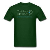 """Think like a Proton"" (white) - Men's T-Shirt forest green / S - LabRatGifts - 4"