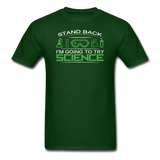 """Stand Back"" - Men's T-Shirt forest green / S - LabRatGifts - 4"