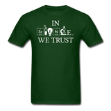 """In Science We Trust"" (white) - Men's T-Shirt forest green / S - LabRatGifts - 4"