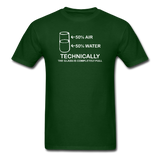 """Technically the Glass is Full"" - Men's T-Shirt forest green / S - LabRatGifts - 3"