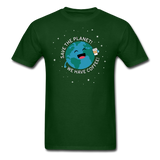 """Save the Planet"" - Men's T-Shirt forest green / S - LabRatGifts - 3"