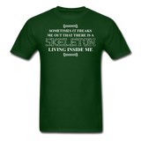 """Skeleton Inside Me"" - Men's T-Shirt forest green / S - LabRatGifts - 4"